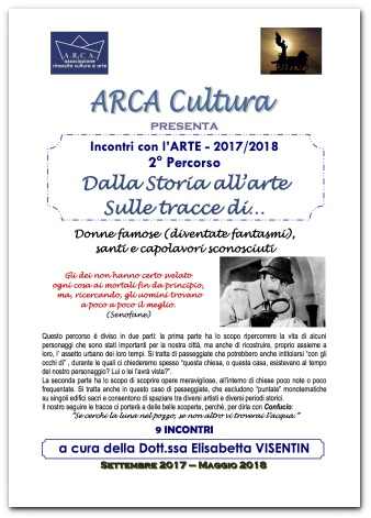 """INCONTRI CON L'ARTE 2017-2018 – 2° PERCORSO """"DALLA STORIA ALL'ARTE SULLE TRACCE DI …."""""""