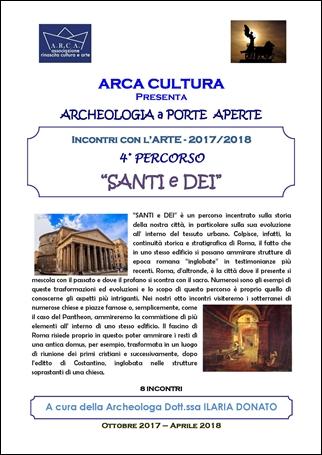 """INCONTRI CON L'ARTE 2017-2018 – 4° PERCORSO """"SANTI e DEI"""""""