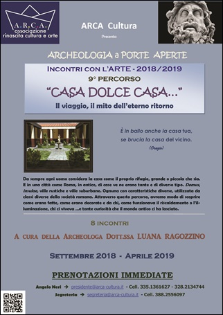 """INCONTRI CON L'ARTE 2018-2019 – 9° PERCORSO: """"CASA DOLCE CASA…"""""""