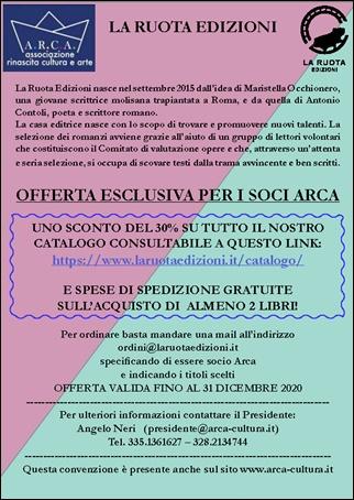 """OFFERTA ESCLUSIVA per I SOCI ARCA: """"LA RUOTA EDIZIONI"""""""