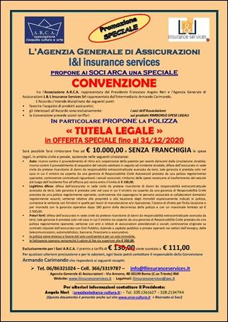 POLIZZA «TUTELA LEGALE» BASE in OFFERTA SPECIALE fino al 31/12/2020