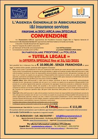 POLIZZA «TUTELA LEGALE» in OFFERTA BASE fino al 31/12/2021