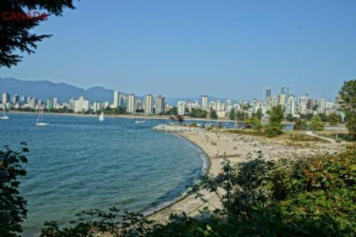 ai- Vancouver spiaggia (British Columbia).