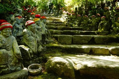fq- Statue Jizo, Tempio Daisho-in, isola di Miyajima (Hiroshima)