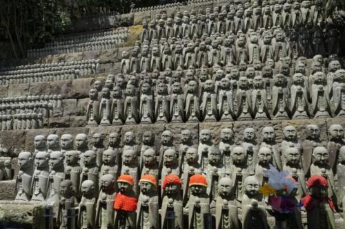 ft- Statue Jizo, Tempio Daisho-in, isola di Miyajima (Hiroshima),