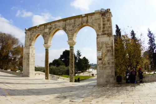 ar- Archi entrata, Spianata delle Moschee- Gerusalemme
