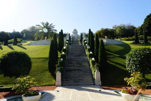 ew- Giardini e la cupola del santuario Bahai- Haifa